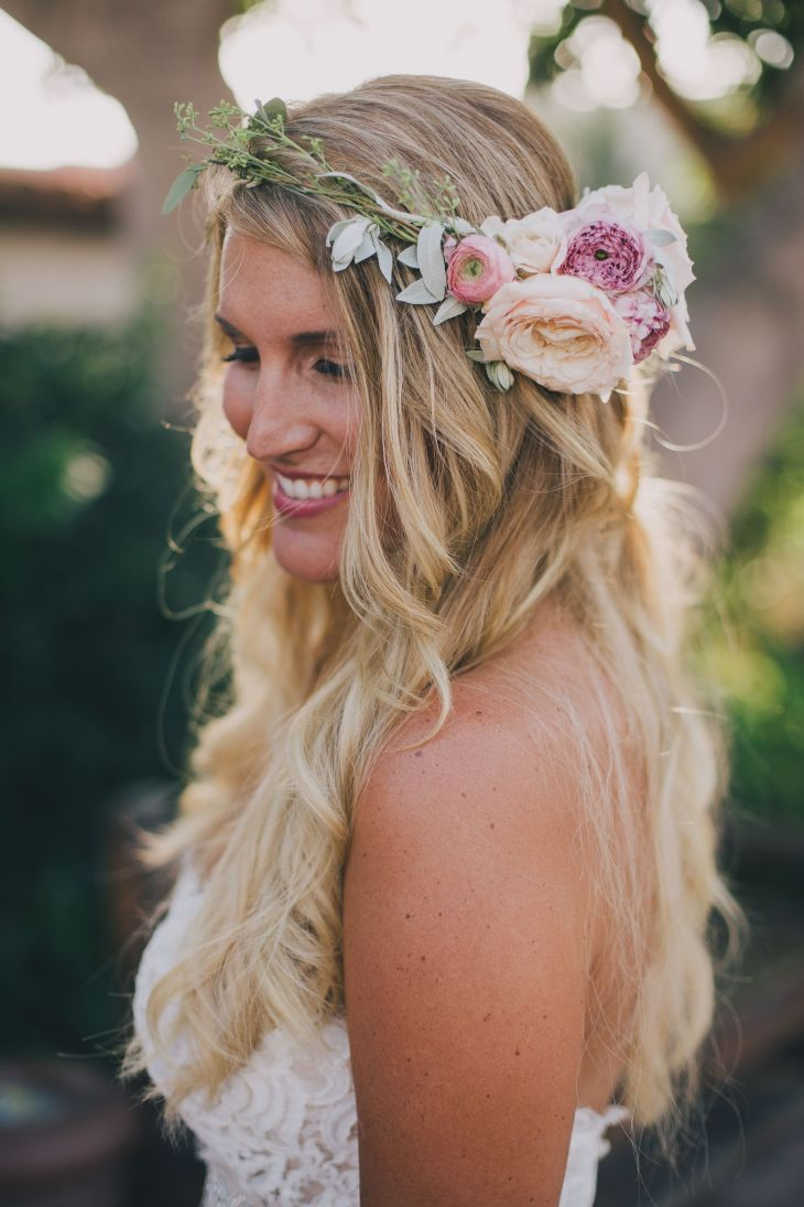 Wallpaper hd diy wedding hair accessories of thin mobile high resolution boho bride with floral crown photo by kelly stonelake