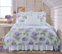 Periwinkle cottage pink lavender hydrangea flowers shabby ...