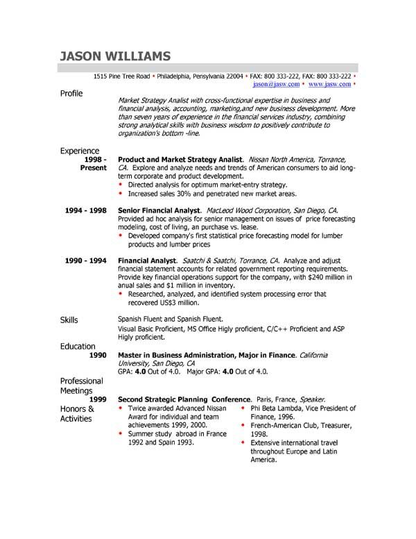 Resumes Sample Cv Professional Profile Customer Service Cover