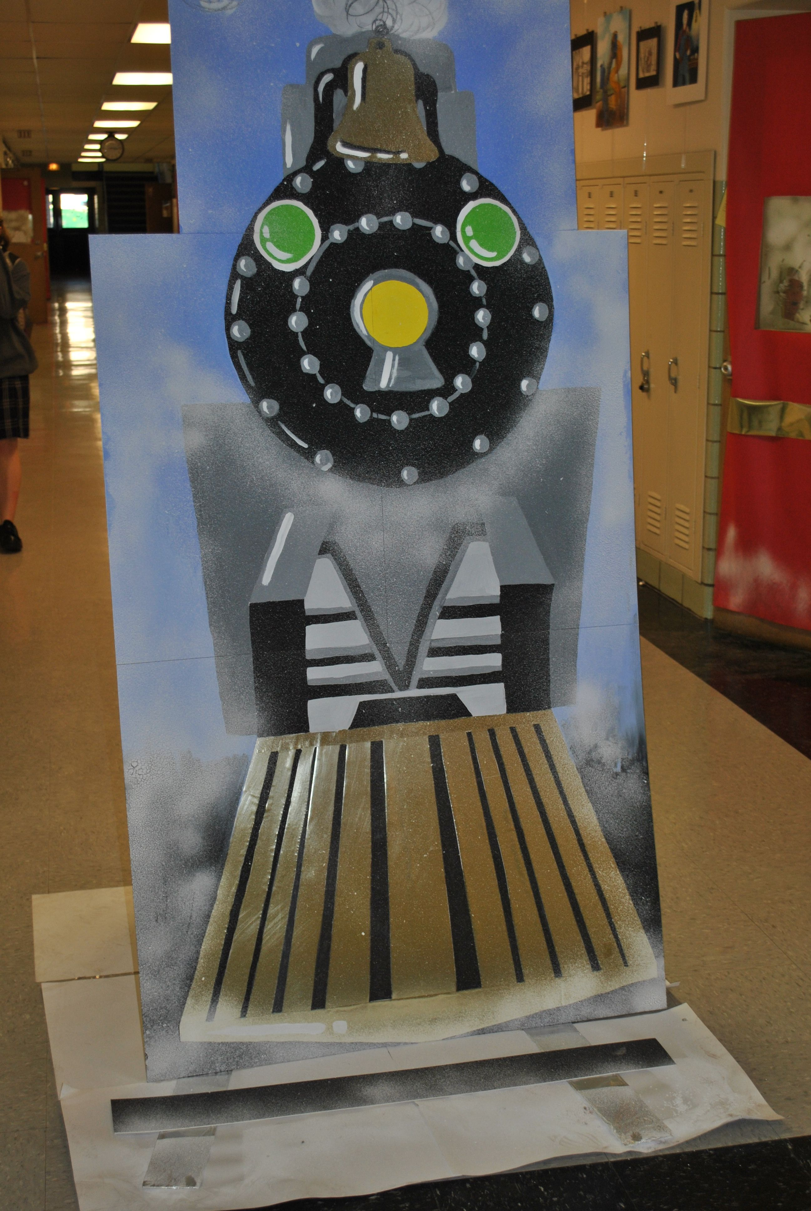 The faculty and staff were invited to decorate their doors