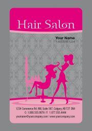 cute hair salon business card