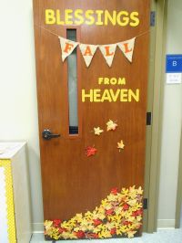Fall classroom door decoration