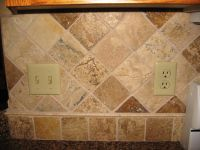 Sandstone Tile Backsplash