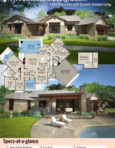 Plan wg bed house with dynamic outdoor living architectural designs also rh pinterest