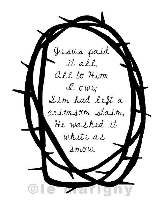 Jesus Paid it All Hymnal Christian Lyrics Song Lyrics by