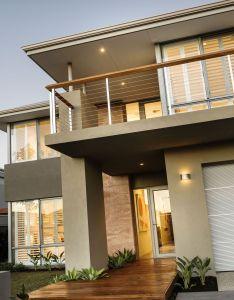 wall also casa moderna de dos pisos con hermoso diseno fachada  interiores rh pinterest