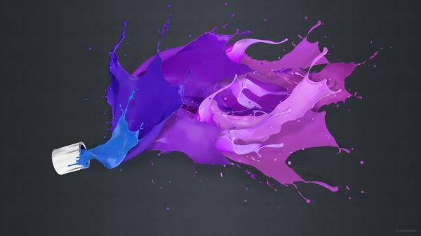 Paint Color Splash Background Wallpaper 1920x1080 76611 . Art Colour
