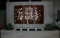 Wall Art, Modern Large Three Panel Painting Artwork Trees ...