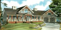 Story House Plan With Cathedral Ceilings