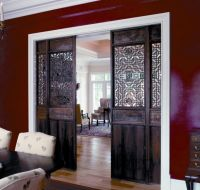 Living Room Furniture Decorative Pocket Doors In Barn Door ...