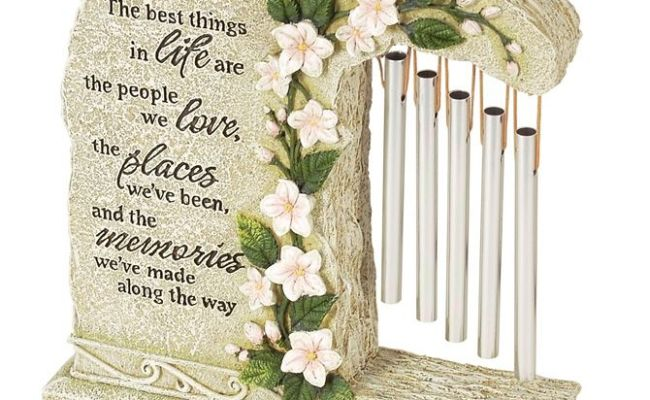 Garden Stone Wind Chime Unique Sympathy Gift Idea Memorial