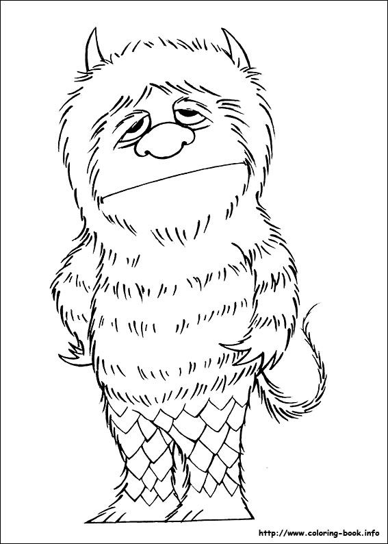 Where the wild things are coloring page for kids