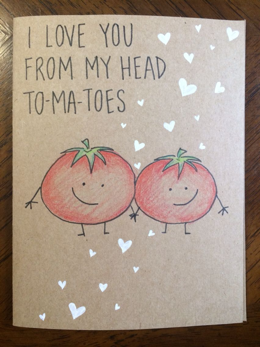 I Love You From My Head Tomatoes Card Gardening Humor