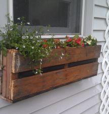 Pallet Flower Box Ideas