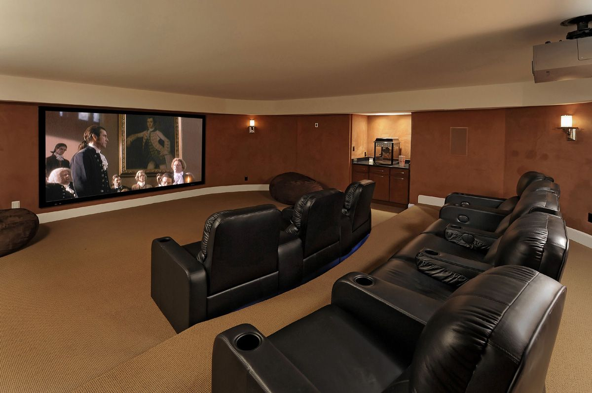 media room pictures ideas  Whole House Design Build