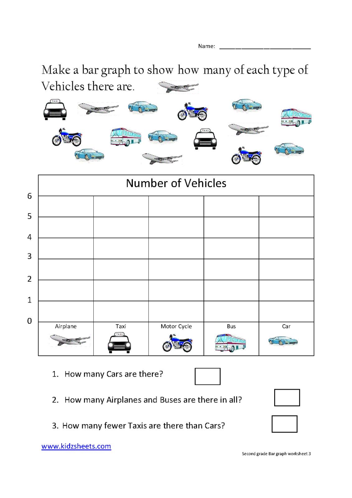 First Grade Bar Graph Template