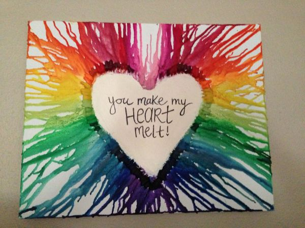 Canvas and Crayon Art Project