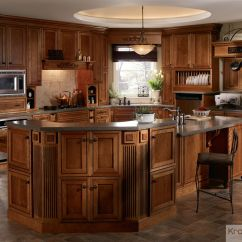 Kraftmaid Kitchens Gallery Kitchen Faucet Parts The Large Multi Tiered Island Is Focus Of This