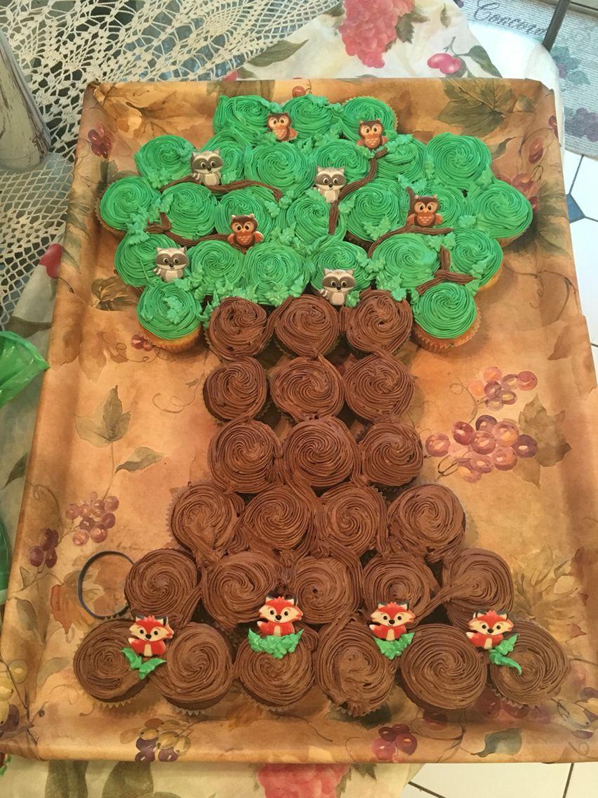 Woodland Creature Tree Cupcake Cake Food Pinterest