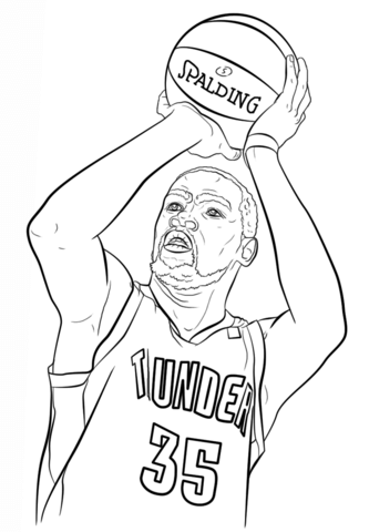 Kevin Durant coloring page from NBA category. Select from