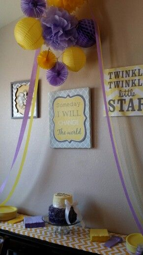 Lavender And Baby Shower Yellow