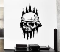 Wall Decal Skull Skeleton Army Soldier Dead Death Zombie ...