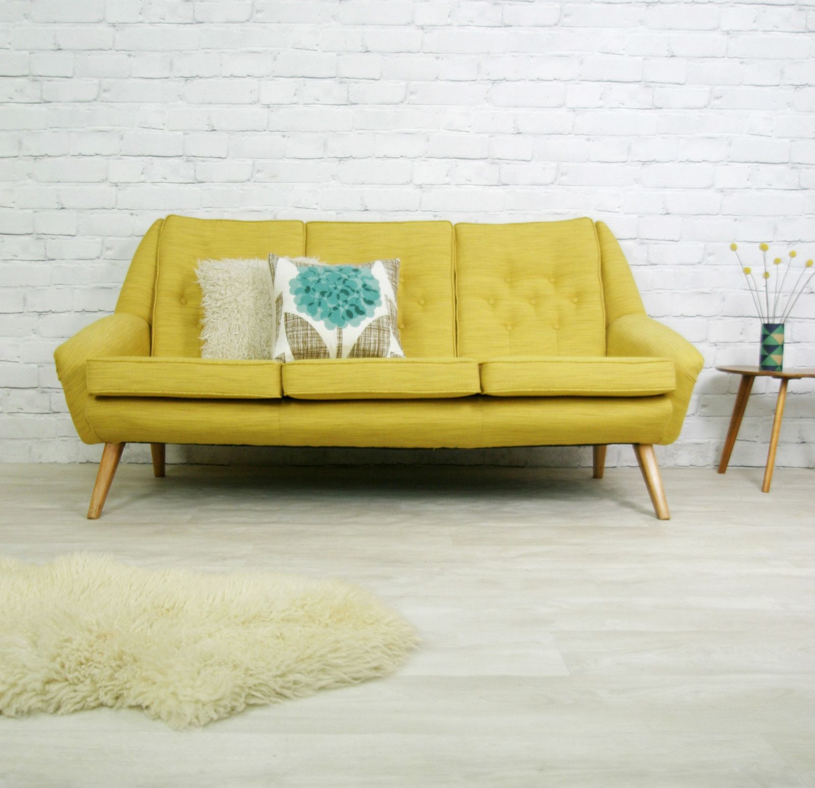 old fashioned looking sofas low sofa singapore vintage retro mid century mustard danish style settee