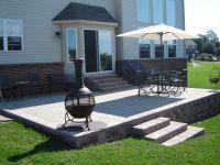 Raised brick paver patio. | Brick Pavers | Pinterest ...