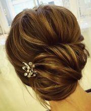 chic twist wedding updo hairstyle