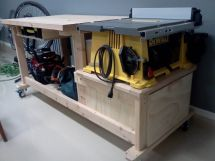 Portable Table Saw Workbench
