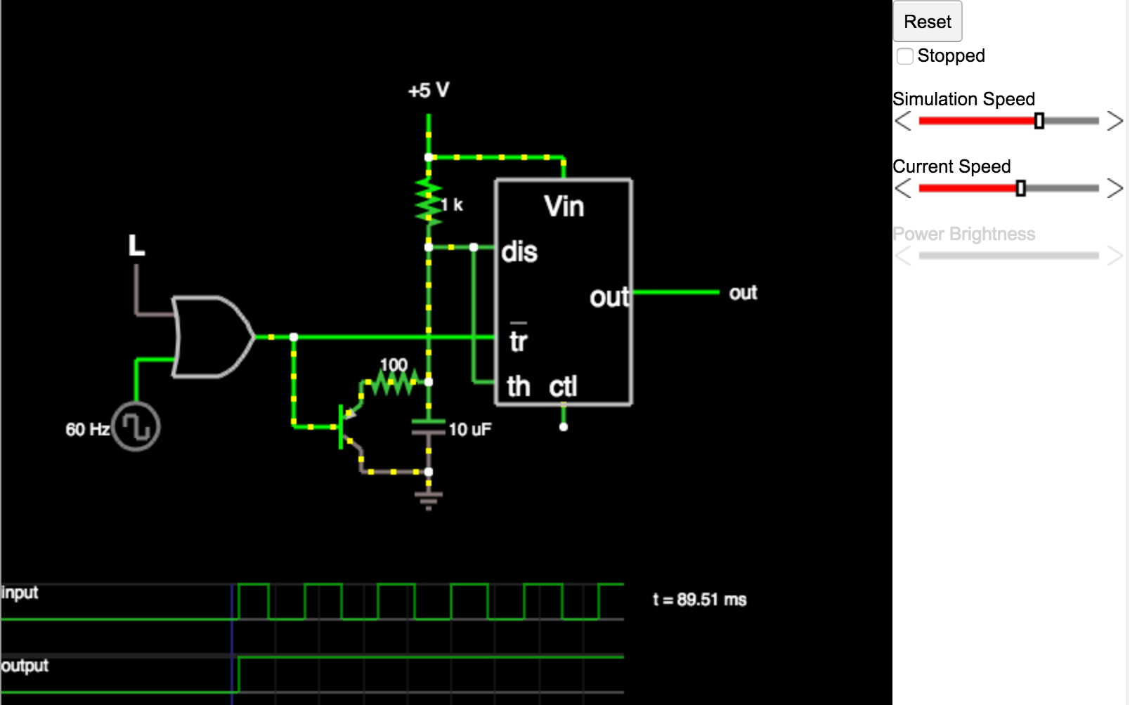 Electronic Circuit Java Applet