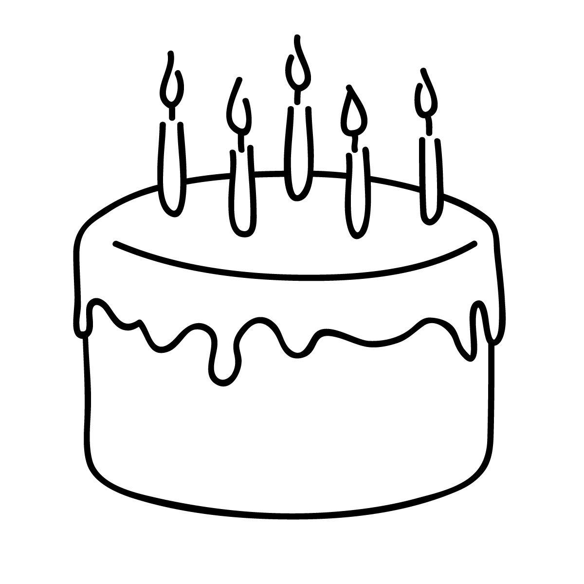 Birthday Cake Clip Art Black