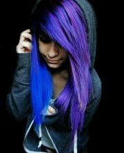 electric blue and purple hair