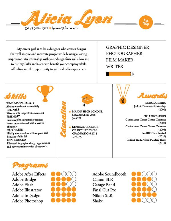 Graphic Design Resume Examples 2012 - Examples of Resumes