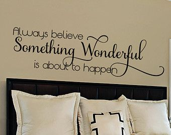 At Etsy To Find Unique And Handmade Inspirational Quote Related Items Directly From Our Ers Bedroom Wall Decal