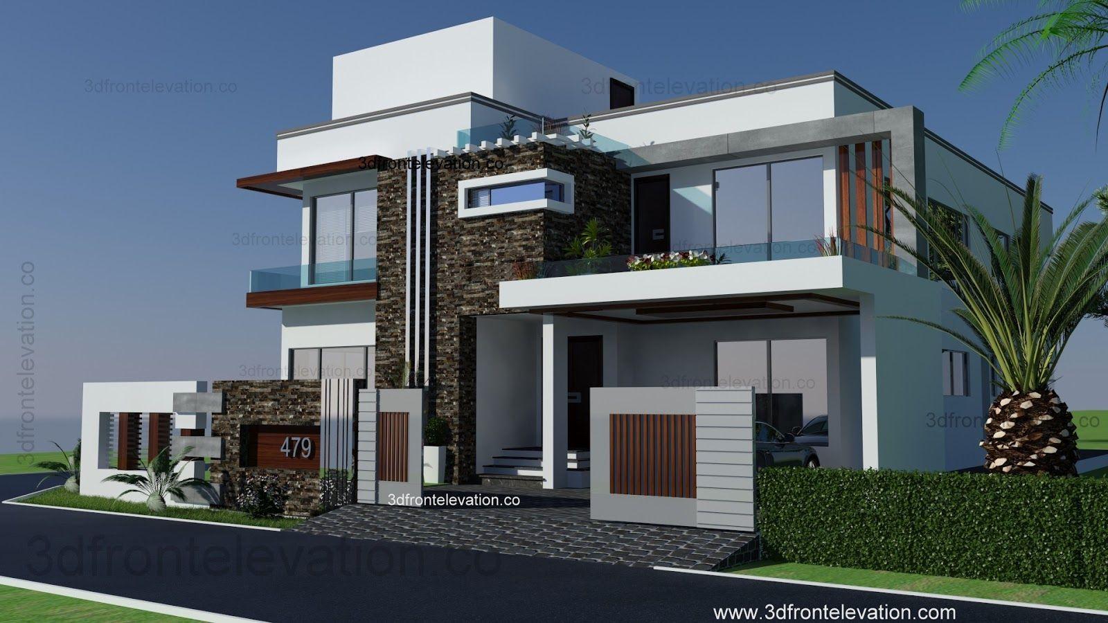 3D Front Elevation Com PortFolio Casa Pinterest Ps Front