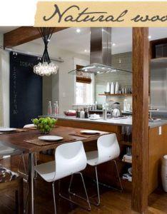 Room wood kitchen modern designsinterior also deco ideas pinterest woods kitchens and dining rh