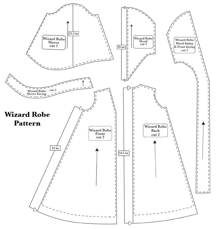 robe pattern... once ollie is into harry potter more, he