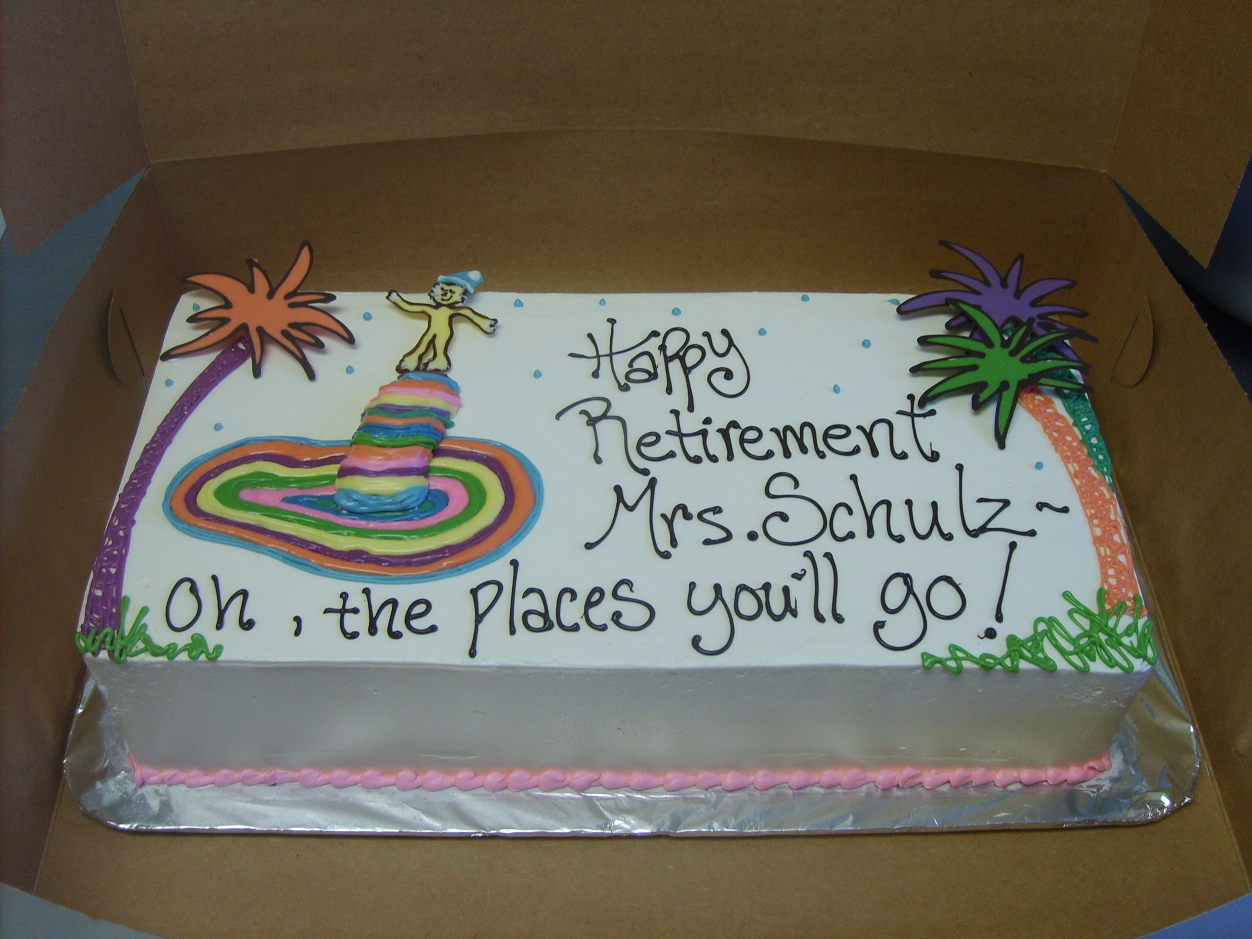 Dr Seuss Retirement Cake