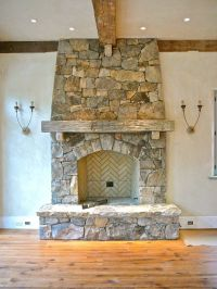 rough hewn mantel, hand hewn mantel, fireplace mantel with ...