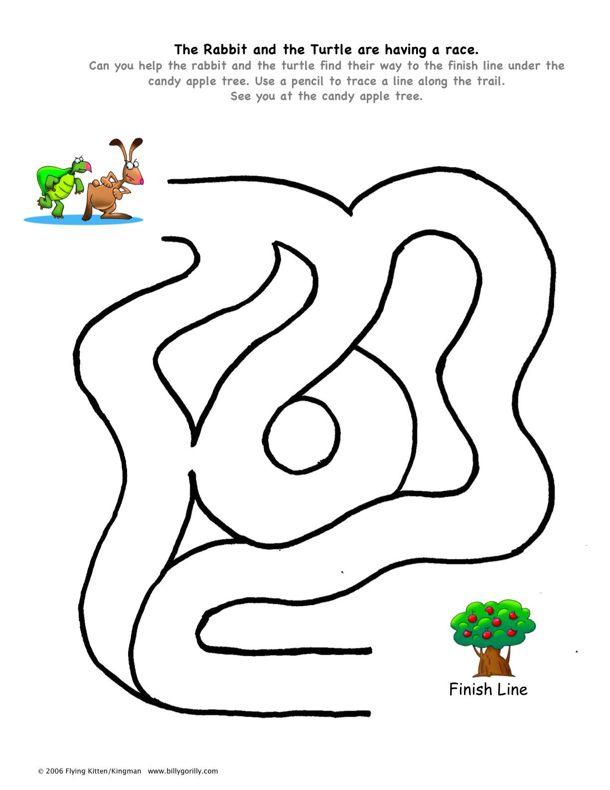 Rabbit Amp Turtle Maze