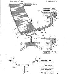 Chair Design Patent Mid Century Modern Directors Eames Aluminum Group Original