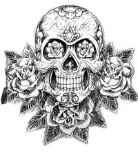 Dropbox - coloring-tatouage-skull-skeleton.jpg | Skull L ...