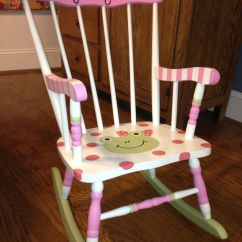 Little Girl Chairs Small Chair Or Stool I Painted This Rocking For A Friends
