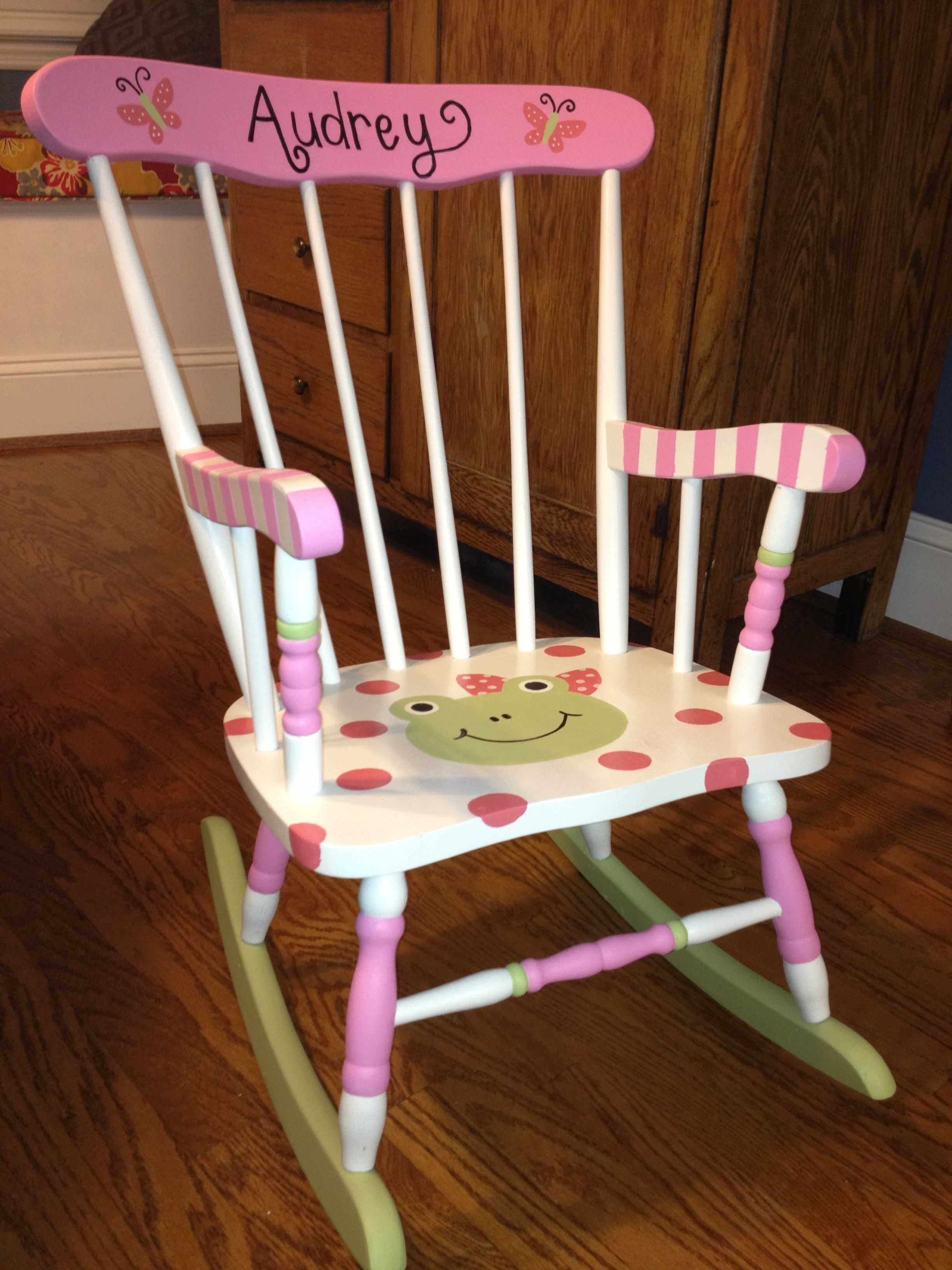 Girls Rocking Chair I Painted This Rocking Chair For A Friends Little Girl