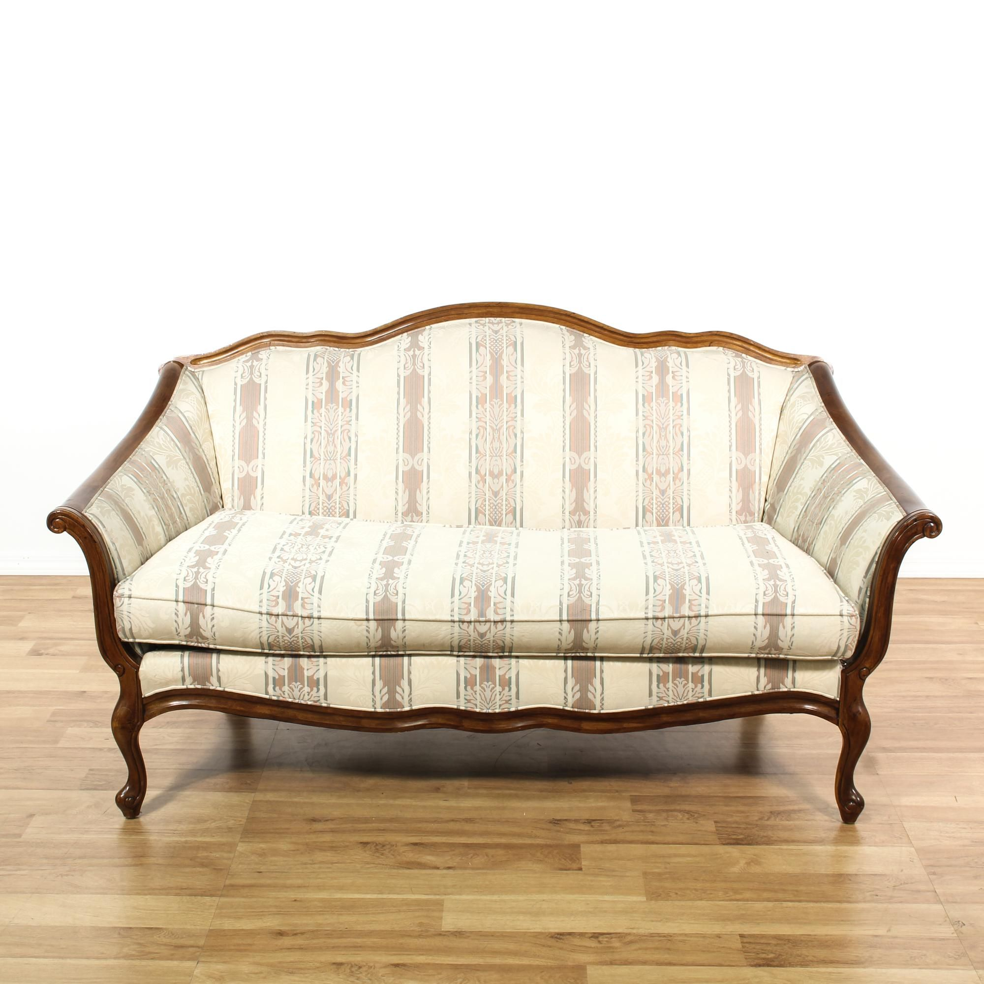 damask sofa bed tonino lamborghini this french provincial loveseat is upholstered in a off