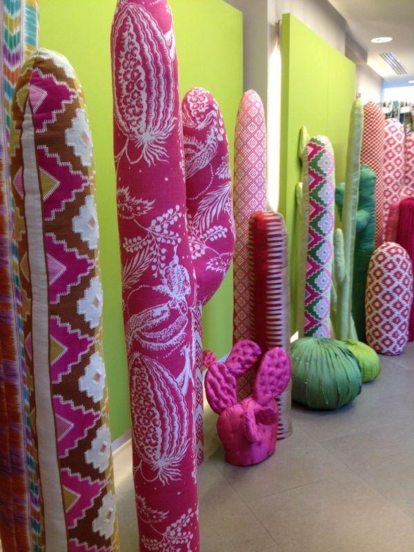 Fabric Cactus Manuel Canovas- Clever Display Idea