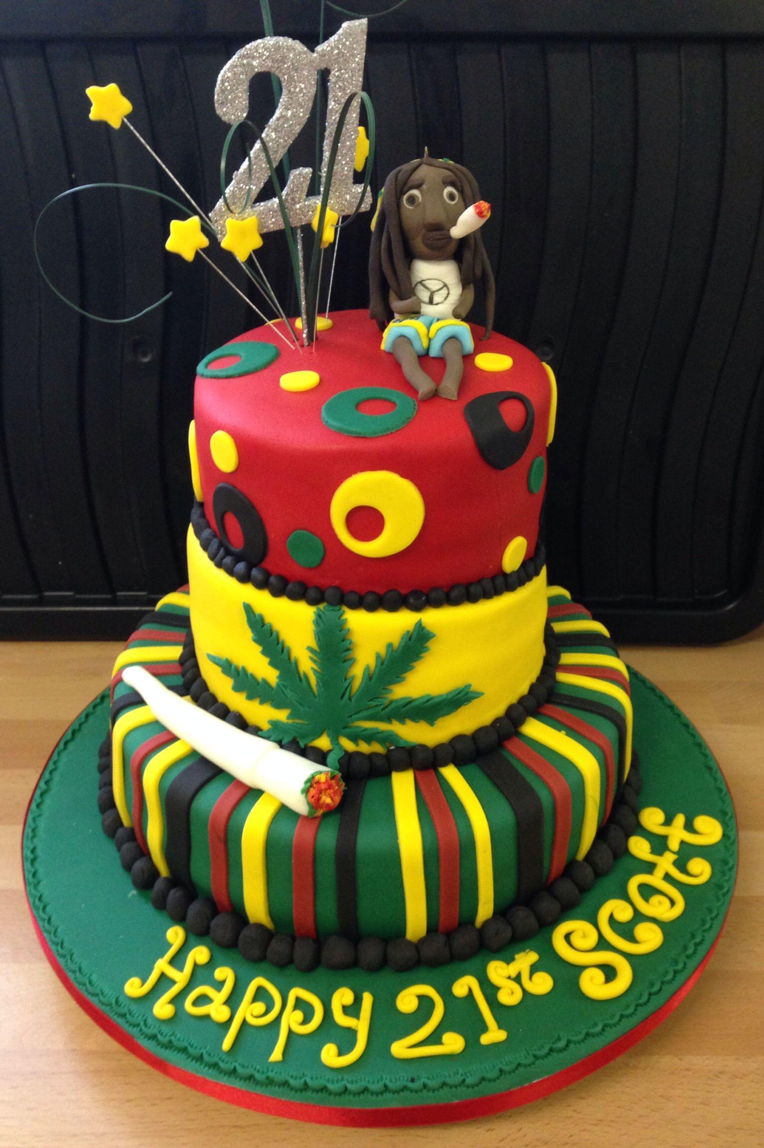 Rasta Cake Decorations
