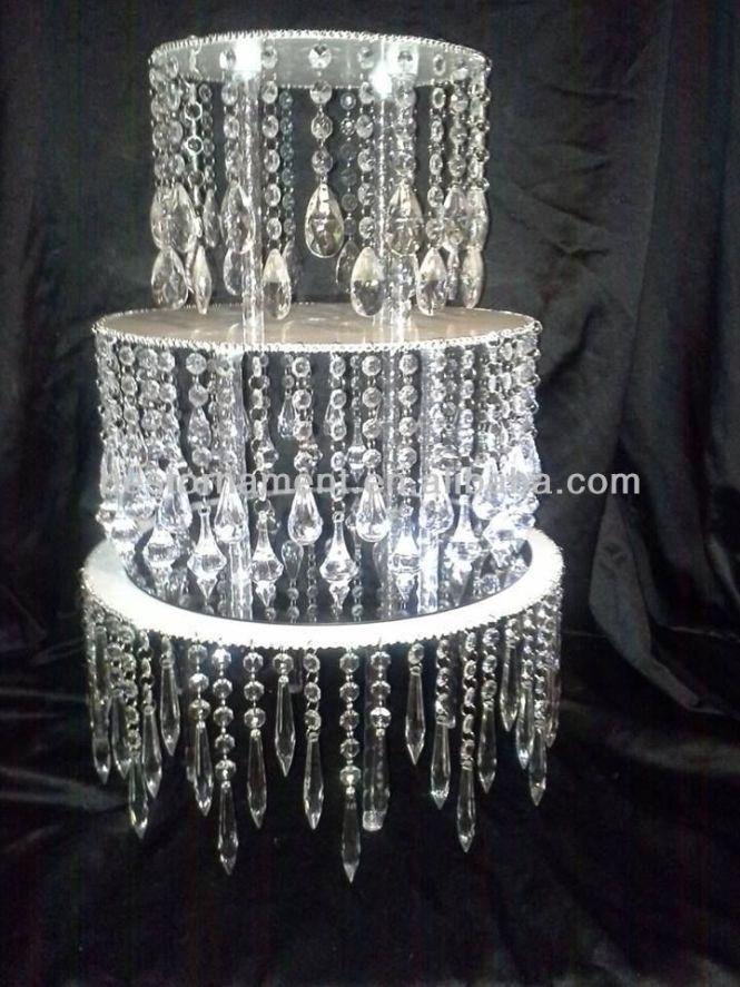 Acrylic Crystal Chandelier Wedding Cake Stand