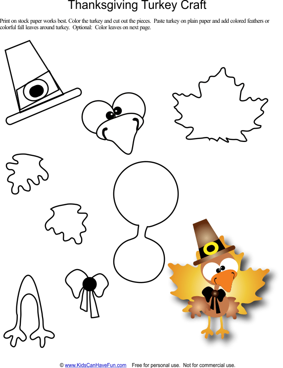 Template Cut And Thanksgiving Paste